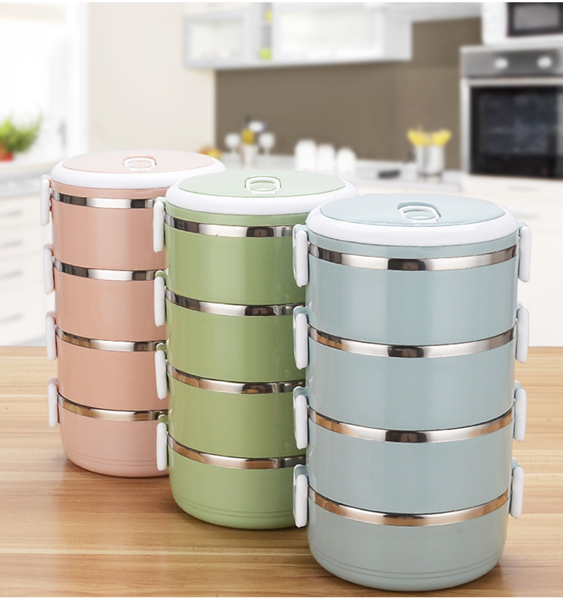 4 Layer Portable Stainless Steel Lunch Bento Boxs Japanese Style Fruit Food Storage Container For Kid School Camping Travel Sets21