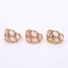 New Female Retro Boho Wedding Rings Retro Large Natural Stone Party Rings Vintage Unique Opal Rings Women's Accessories Jewelry