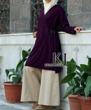 kyle&jane-abaya Muslim Long Sleeve Maxi Dress Middle East djellaba woman Tunic Pakistani Clothing Wholesale &Retail KJ-TOPS10021(China)