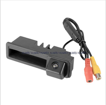 HD CCD car rear view Trunk handle Camera for Audi A3 A4 A6 A8 Q7 A6L wire wireless parking camera