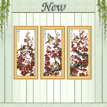 Love flower bird scenery decor painting counted print on canvas DMC 11CT 14CT Chinese Cross Stitch kits embroider needlework Set(China)