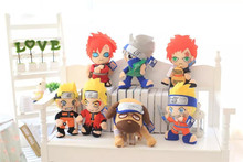 30cm Anime Naruto Gaara Sasuke Hatake Kakashi Uzumaki Naruto Dog Plush Toys Doll Soft Stuffed Toys Gifts for Kids SA1257(China)