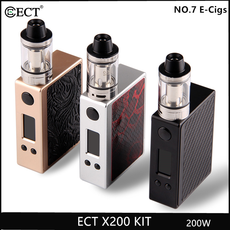 Original 200W temperature control ECT X200 kit vaporizer BOX MOD without 18650 battery electronic cigarette 200w vape mod