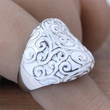 Top Fashion Stainless Steel White Enamel Cocktail Rings For Women Vintage Style Custom Jewelry Gift New 2016 Size 7 8 9 (A009)