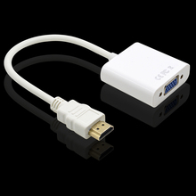 CHIPAL HD 1080P HDMI2VGA Adapter Cable For HDMI to VGA Converter Adaptor for Desktop Notebook All-in-one PC HDTV Monitor Display