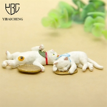 4-5CM Lovely Cartoon Lucky Cat Anime Action Figures Toys For Children Kids DIY Decoration Gifts Cute Resin Models Toys Figurine