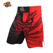 SUOTF Phantom pattern cotton breathable sports training game Fight Shorts muay thai clothing kickboxing shorts mma fight shorts(China)