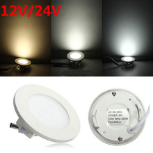 AC/DC 12V 24V led downlight 3W 4W 6W 9W 12W 15W 25W led ceiling recessed grid downlight round panel light free shipping(China)