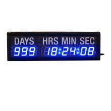1.8'' Character High 9Digits LED Countdown Clock Countdown Count Up In Days And Time For Exhibition Church Event(China)