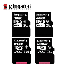 Kingston C10 Memory Card 128GB 64GB 32GB 16GB U1 UP to 80MB/s Micro SD Card Class 10 SDHC SDXC Mini SD Card UHI-S Flash Card