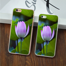 Phone case for Apple iphone 7 7plus 6 6s plus 5 5s SE 5c 4 4S Cases Lotus flowers in bud Pattern For iphone7 phone Back Cover