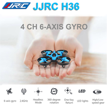 JJRC H36 Mini Drone 2.4G 6 Axis RC Micro Quadcopters 2 Speed With Headless Mode One Key Return Helicopter Vs H8 Mini CX10 Dron