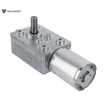 12V 62Rpm Reversible High Torque Turbo Worm Geared Motor DC Motor JGY370 Micro Electric Mini Reduction(China)