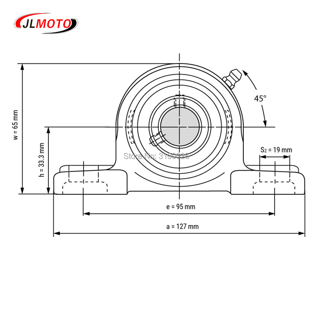 JLG-065-8-BEARING-WITH-BRACKET-UCP204-BUGGY-PARTS