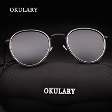 OKULARY Highest quality Metal Frame Men Women Fashion Travel Sun Glasses UV 400 Brand Design Outdoor Sports Protective Eyewear(China)