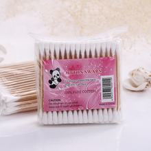 Hot Sell Cotton Swab Round Shape Health Care Cotton Tipped Makeup Tools Color Small Boxed Cosmetic Cotton Buds Sticks Box