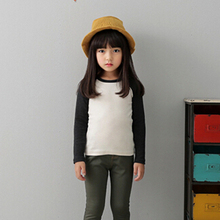 Plain Boys Girls Casual Blank T Shirt Kids Black White Long Sleeve So Unisex Cotton Basic Undershirt Kids Clothes 2-12T KT-1544