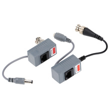 Transceivers CCTV CAT5 Balun Rj45 Video Power Balun Video Audio Power for Camera 5Pair