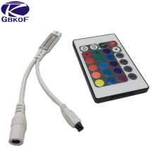 Mini 24 keys RGB IR Remote Controller for 3528 or 5050 RGB LED strips Small RGB Controller Free Shipping(China)