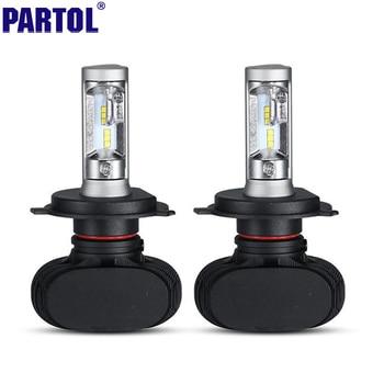 Partol H4 H13 H7 H11 9005 9006 LED Phare De Voiture Ampoules 50 W 8000LM CREE Puces CSP LED Phares Tout en un Tête Lampe Avant lumière