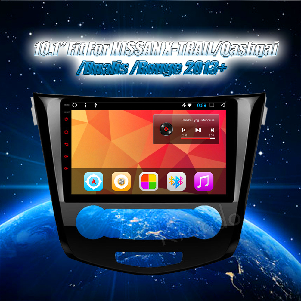 Krando Android car radio gps navigation multimedia system for Nissan X-TRAIL Rouge 2013