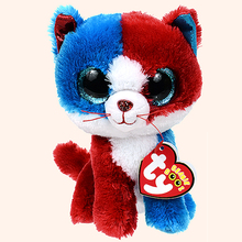 "Pyoopeo Ty Beanie Boos 6"" 15cm Firecracker Cat Plush Stuffed Animal Regular Collectible Soft Big Eyes Doll Toy(China)"