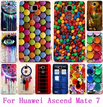 Soft TPU & Hard PC Cases For Huawei Mate 7 Housing Colorful Chocolate DreamCatcher Phone Cover For Huawei Ascend Mate 7 Shell