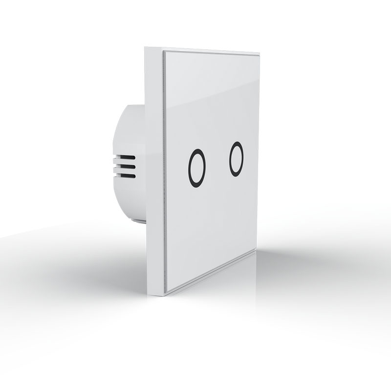 NEO Coolcam NAS-SC01ZE Smart Home Z-Wave Plus 2CH EU Light Switch Compatible with Z-wave 300 series and 500 series <br>