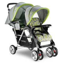 Pegasus twins baby stroller child double umbrella car size of the cart before and after(China)