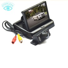 HD Video Auto Parking Monitor LED Night Vision Glass Lens CCD Car Rear View Camera with 4.3 inch Car Rearview Monitor for Honda