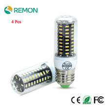 4Pcs Real No Flicker/Strobe IC Driver Design LED Corn Bulb High Lumen 4014 SMD E27 E14 220V long LifeSpan LED lamp Spot light