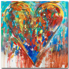 2017 modern art printed painting abstract contemporary painting wall decoration heart picture for living room decoration