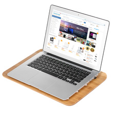 SAMDI Bamboo Laptop Desktop Tray Lap Desk Universal Cooling Stand Desktop Reading Board Air Ventilation for Laptop Notebook(China)