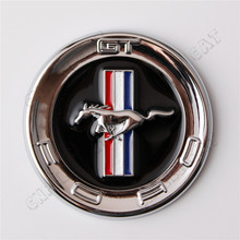 Universal 60mm 3D Silver Horse Car Auto Body Emblem Sticker for Ford Mustang GT