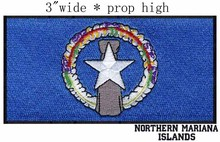 "Northern Mariana Islands Flag Custom Embroidery Patch 3"" wide/Ocean Symbol/Latte Stone Embroidered Patches"
