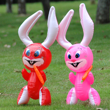 Large Pvc Toys Inflatable Animals Inflatable Lovely Radish Rabbits Kindergarten Children's Toys(China)