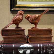Study the bird Bookends Office Bookcase decor decoration Book American model room retro crafts