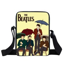 Rock Band The Beatles / Guns N Roses Mini Messenger Bag Hippie Women Handbags Boys Girls Crossbody Bags Men Shoulder Bags(China)