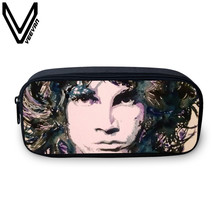 VEEVANV Brand 2017 The Doors Cases 3D Print Bags Large Capacity School Student Supplie Pencils Bags The Doors Image Print Cases