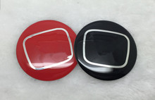 4pcs 60mm car Wheel Hub Center Stickers Cap Badge  Adhesive H** logo Black/Red for Japanese cars H*** series