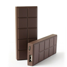 Portable Ultra-thin 3000mAh chocolate power bank portable charger external backup battery for mobile phone