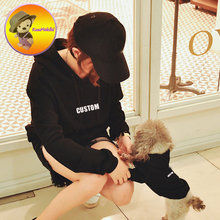 custom embroidery words Family clothing for pet T shirt cat hoodies dog coat Parent dog clothes Dog Apparel dog outfit