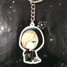 H:HYDE Hot Sale Anime Keychain 6 Styles Figure Shapes Single Side Keyrings For Women Men Phone Bag Pendant Jewelry Accessories