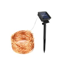 20M 66FT 200 LED Solar Lamp Outdoor Garden Patio Lawn Fairy String Light Christmas Wedding Party Decoration Warm White luminaria(China)