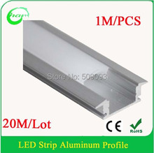 New Arrival Modern Profile Anodized diffuse cover led aluminum profiles light 20M/Lot Length can be customized
