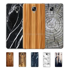 For One plus oneplus 3/3t/three/t Protective Wooden Pattern PC Mobile Phone Back Rear Case Marble Stone Wood Paint Cover Coque
