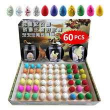 60pcs/lot Magic Water Hatching Inflation Growing Dinosaur Eggs Practical Joke Toy For Kids Gift Educational Novelty Gag Toys