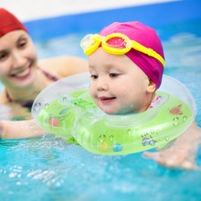 Baby Aid Infant Swimming Neck Float Ring Inflatable Tube Ring Safety Neck(China)