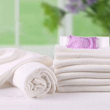 1Pc White Color Children Washcloth Baby Bamboo Fiber Feeding Face Towels Infant Wipe Wash Cloth Newborns Handkerchief Bath Towel(China)