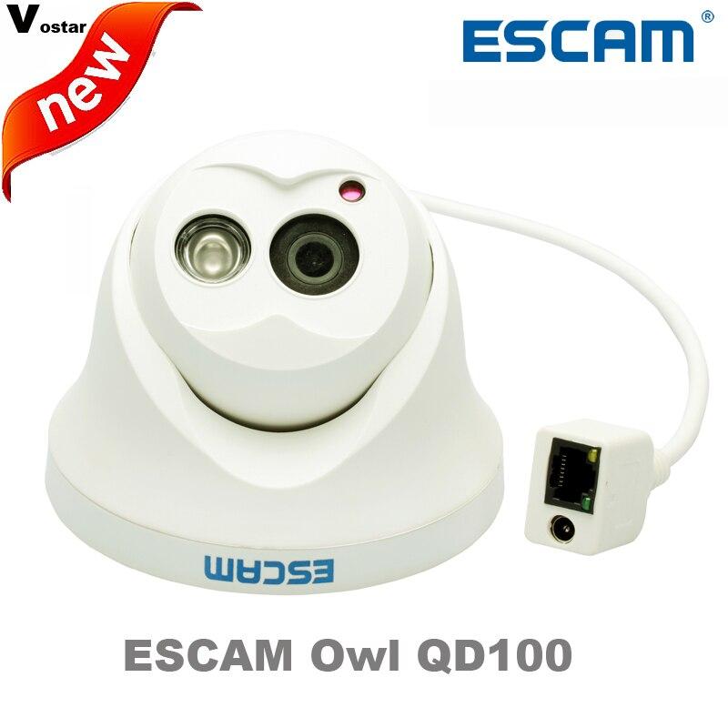 Escam OWL QD100 IP Camera Night Vision Onvif 3.6mm lens 720P H.264 1/4 CMOS P2P Mini dome Camera Security CCTV Outdoor Camera<br>
